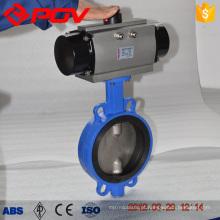4 inch cast iron wafer pneumatic butterfly valve