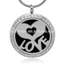 Amor corazón Antiguo Locket de plata Aceite esencial Aromaterapia Difusor-Aromaterapia Young Living