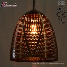 Lumière pendante creuse moderne et de mode en métal avec la salle à manger