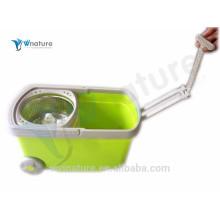 removível 360 magic spin mop com duas rodas, esfregão com balde