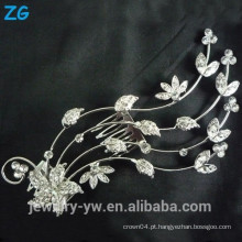 Design de moda pente de cristal cheio pentes flor casamento cabelo pente acessórios de cabelo atacado