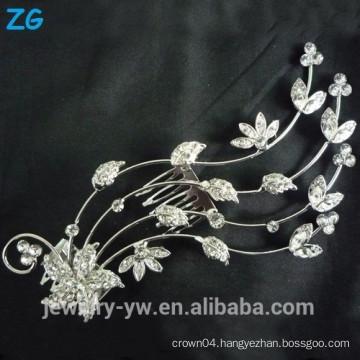 Fashion Design full crystal hair combs flower wedding hair comb wholesale hair accessories