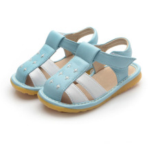 Blue White Baby Boy Squeaky Sandals