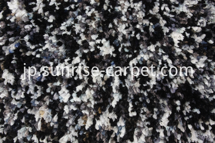 Micorfiber Shaggy Rug with Black & Grey Color
