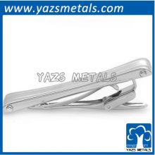 personalize clipe de gravata, feito sob encomenda clássico generoso matt prata cor tie cilp