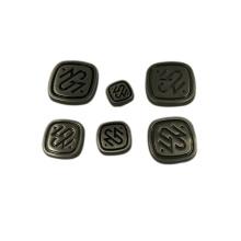 Accesorio de moda barato personalizado etiqueta de logotipo de metal