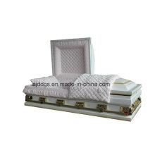 Blanco sombreado ligero acabado en oro ataúd (de gran tamaño)