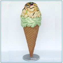 Market Decoration Large Fiberglass Ice Cream Statue