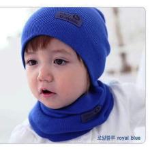 2015 Winter-warmer Ansatz-Verpackungs-Schal Kinder einteiliger super netter Welpen-Hut mit Schals Baby-Mädchen-gestrickte Kragen-Schal-Geschenke