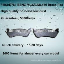 D761 NO NOISE Niedrige Metall-Scheibenbremsbeläge für BENZ ML320 / ML430