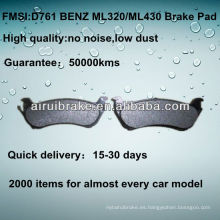 D761 NO NOISE pastillas de freno de disco de metal bajo para BENZ ML320 / ML430