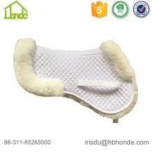 Almofada de sela de pele de ovelha meio padrão vários