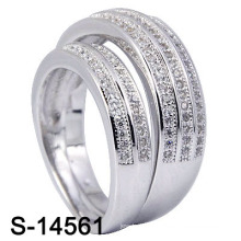 Модное обручальное кольцо с серебристым серебром 925 (S-14561. JPG)