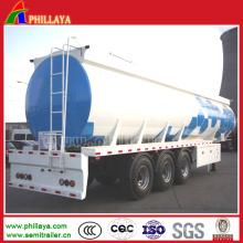 Semi remolque del tanque del transporte del combustible del material de acero inoxidable