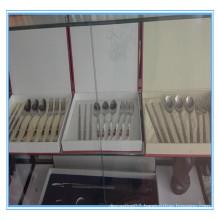 High grade customized titanium tableware set titanium cutlery set