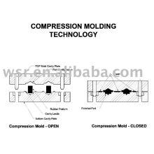 Goma de compresión del molde, molde de goma