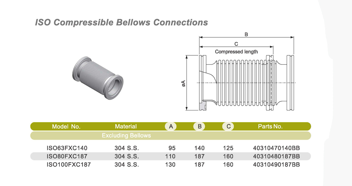 ISO Compressible Bellows Drawings