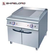 2017 nuevo tipo de cocina eléctrica 2/3 plana y 1/3 ranurada plancha con gabinete