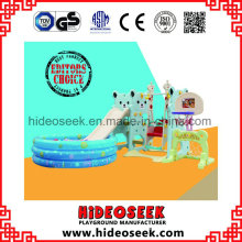 Eco-Friendly Plastic Slide y Swing con Ball Pit