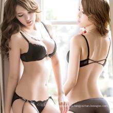 Sujetador atractivo cómodo de las mujeres del cordón de la nueva manera al por mayor del diseño y sistema panty