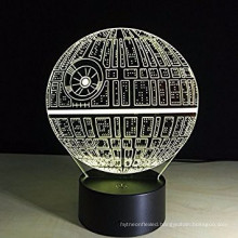3D LED Night Light Lamps, 3D Optical Illusion 7 Colors Touch Table Desk Visual Lamp Gifts Toys for Children