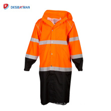 2017 Fashion Cheap Waterproof Security Reflective Raincoat Safety Work Jacket HIGH VISIBILITY