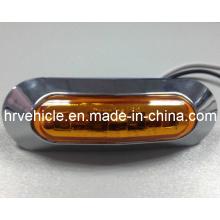 Светодиодная боковая маркировка DOT / SAE с хромированной базой