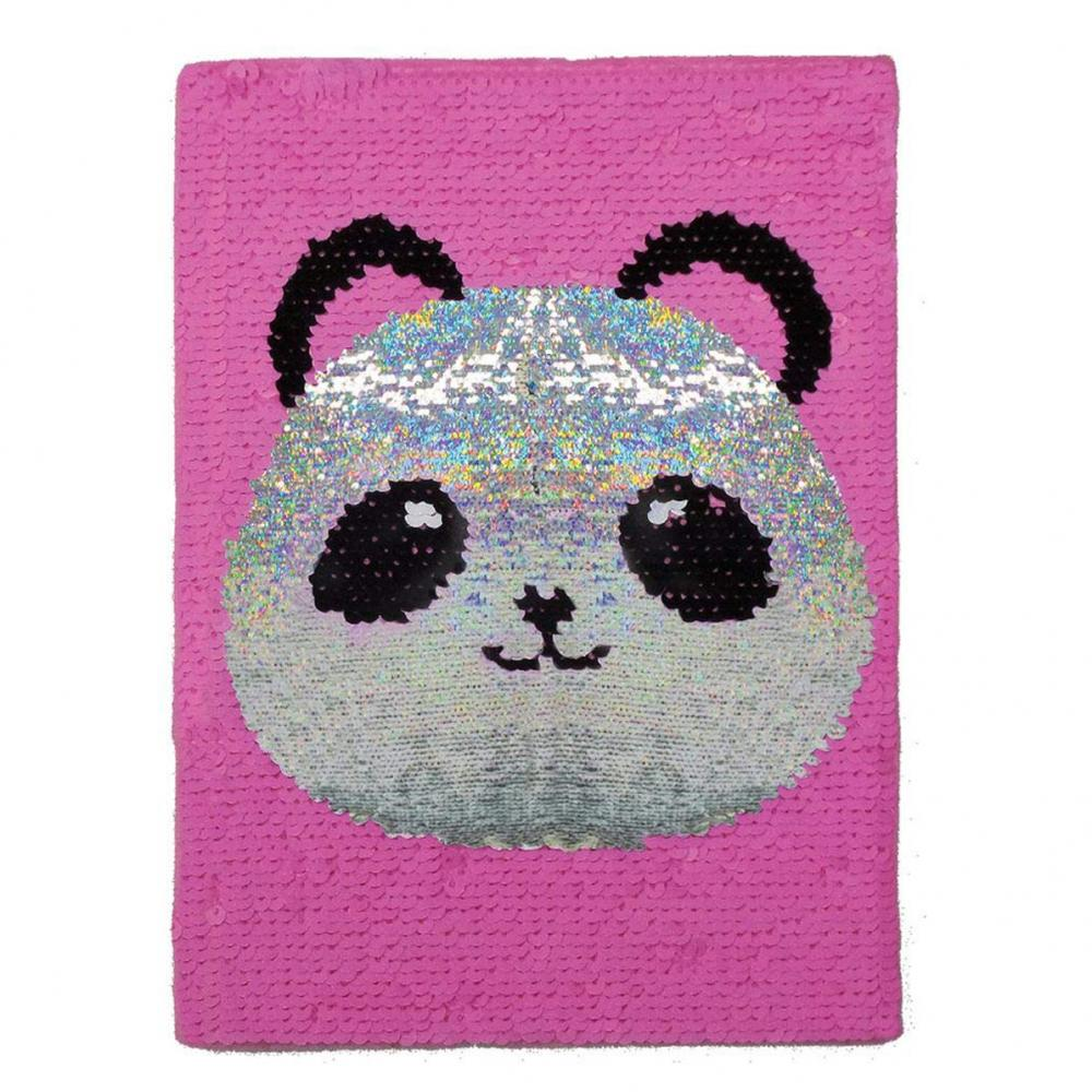 Glittery Flip Panda Sequin Notebook 2