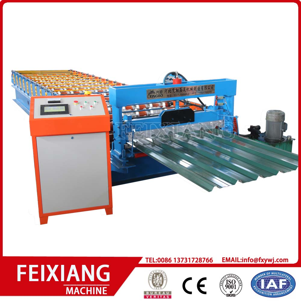 Trapezoid roof sheet roll forming machine
