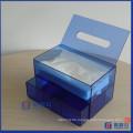 Gesichts-Acryl-Aufbewahrungsschublade / Kosmetik-Organisator-Kasten mit Gewebe-Zufuhr