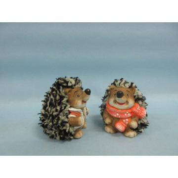 Hedgehog Shape Ceramic Crafts (LOE2531-C6.5)