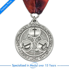 High Quality Customized Factory Price Pressure Stamping 3D Fencing Medal in Zinc Alloy