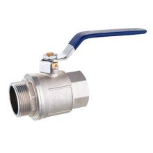 chromed brass ball valve F/M