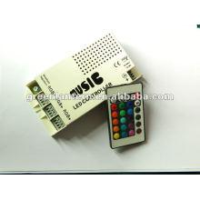 Controlador de som LED ativado música com controle remoto para mudança de cor LED Strip, 5 ampères, 12 volts
