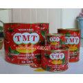 Venta al por mayor de 70 G a 4.5 Kg de pasta de tomate enlatada concentrada doble con color rojo