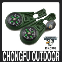 Army green Liquid Filled locking clip Compass wholesale
