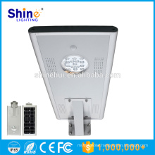 New design all in one 15W solar led parking lot lights with sensor CE/RoHS approved