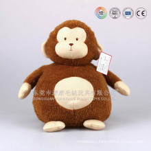 ISO9001 audited Macaco Brinquedos Flanela, Guangdong factory plush stuffed monkey