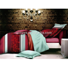 California King Bed Set Reversible Duvet Cover Bedding Set OEM