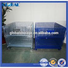 conteneur de fil d'équipement d'entrepôt personnalisé / conteneur empilable de haute qualité de treillis métallique