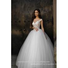 Vestidos de Noiva vestido de bola de lujo completo Perlas vestidos de boda hinchados 2017 MW2190