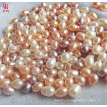 8-9mm gemischte Farbe Reis / ovale Süßwasser lose Perlen