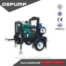 Pompe d'irrigation de deisel de haut débit de 8 pouces 75hp avec la remorque