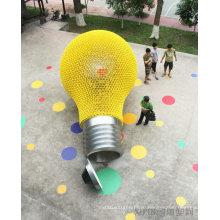 Большой современный цвет искусства свет наружной отделкой из нержавеющей стали скульптуры