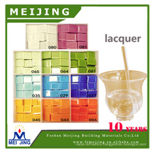 transparent lacquer for protecting color glass mosaic