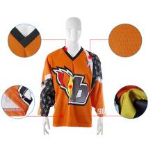 China Fabricante Jerseys de hockey sobre hielo de la universidad Haga su propio logotipo