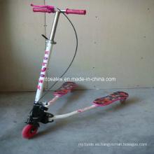 Scooter de la rana del diseño de la PU Tri-Scoote fácil de tres ruedas (ET-FGS005)