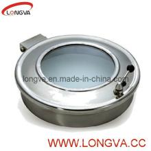 Manivelle sanitaire en acier inoxydable avec verre de vue