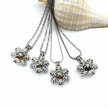 Gift Christmas Pendant Snowflake Pearl Necklace
