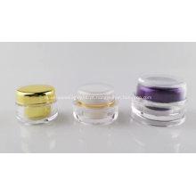 Mini potes de embalagem de cosméticos de creme para os olhos vazios